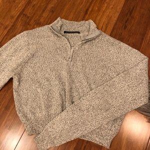 Cropped quarter zip brandy Melville sweater